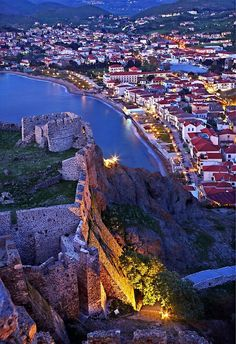 """""""View from the castle of Myrina - Lemnos island"""" by Hercules Milas   Redbubble Samos, Beautiful Islands, Beautiful Places, Amazing Places, Greece Islands, Ancient Greece, Greece Travel, Travel Pictures, City Photo"""