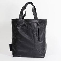 Bag made from leather pants.