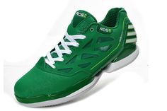 Adidas basketball shoes 2012 Adizero Rose Dominate Low Green White G48867