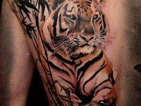 tattoo ideas on Pinterest   Tiger Tattoo Bamboo Tattoo and Flower Of ...