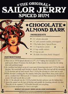 Chocolate Almond Barkl | Sailor Jerry Spiced Rum