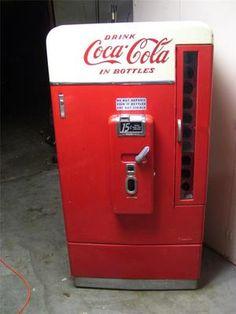 Vintage 1950's Vendo 110 Coca Cola Coke Vending Machine