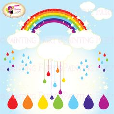 Cliparts Buy 2 get 1 Free Colorful rainbow by PaintingFairyClipart