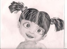 cool  monsters inc boo drawing on wall hd deviantART  More Like Boo Monsters Inc by TheLlamaLover