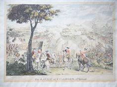 'The Battle of Culloden' etching by Luke Sullivan @ 1790