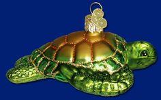 Green Sea Turtle, 4¾  Old World Christmas Glass Ornament