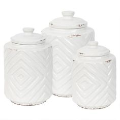 Chivan Canisters White