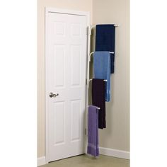 Bathroom Storage Ideas : including this multiple-tiered towel rack that hides easily behind the door… great space saver! Bathroom Storage Ideas : including this multiple-tiered towel rack that hides easily behind the door… great space saver! Diy Bathroom, Small Bathroom Storage, Bathroom Towels, Bathroom Organization, Bedroom Storage, Storage Spaces, Bathroom Ideas, Organization Ideas, Small Storage