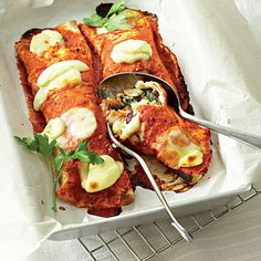 Taste Mag | Baked vegetable and cheese tortilla wraps @ https://taste.co.za/recipes/baked-vegetable-and-cheese-tortilla-wraps/