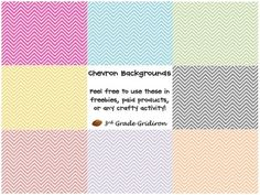Free Chevron Backgrounds. This is a zip fie of 23 jpegs to use as backgrounds!  The Terms of Use are pretty easy:Use these in freebies, paid products, or any other craft...3rd Grade Gridiron!