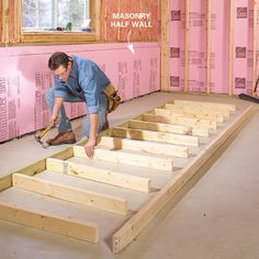 With special framing and insulating techniques, your basement can be as comfortable as any other room in your home. Find out more about insulating basement walls and framing basement walls here. Insulating Basement Walls, Framing Basement Walls, Basement Insulation, Basement Flooring Options, Flooring Ideas, Basement Ceilings, Wall Insulation, Basement Lighting, Basement Windows