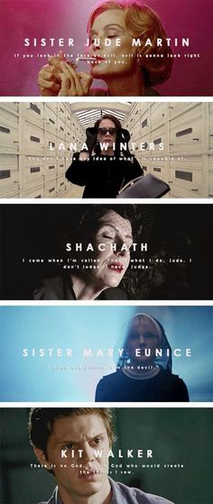 Find images and videos about american horror story, ahs and evan peters on We Heart It - the app to get lost in what you love. American Horror Story Quotes, American Horror Story Asylum, Ahs Asylum, Tate And Violet, American History X, X Movies, Nerd, Horror Show, Film Serie