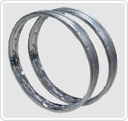 The installed plant capacity is 15,000 rims per day using imported multistage, profile forming rolling mills from U.K, JAPAN and TAIWAN. MAIL manufactures 10,000 nos. motorcycle rims per day approx. We have the capability to manufacture spoke rims of the following range using IS Grade cold rolled steel: