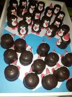 pinguins van negerzoenen met rolfondant