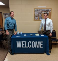 New Hope Baptist Church in PA uses their new pre-made welcome table cloth to share resources and connection info with members and guests! Sign Up Sheets, Cafeteria Table, Table Throw, Welcome Table, Church Banners, Table Covers, Church Ideas, Hospitality, Ministry
