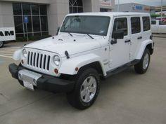 2012 Jeep Wrangler Sahara White