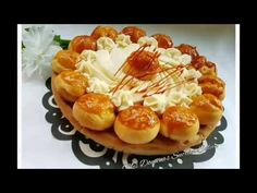 Profiteroles Recipe, Eclairs, St Honore Cake, Good Food, Yummy Food, Fancy Desserts, French Pastries, Bakery, Saints