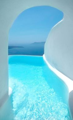 santorini honeymoon This Santorini hotel has rooms with SECRET TUNNELS leading to hidden infinity pools - and the views are incredible - Mirror Online Dana Villas Santorini, Santorini Hotels, Santorini House, Santorini Honeymoon, Santorini Sunset, Greece Honeymoon, Santorini Island, Holidays To Santorini, Honeymoon Ideas