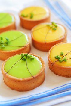 tartelettes aux citrons jaunes et verts