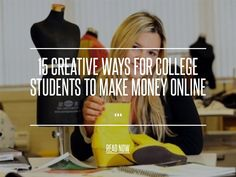 Freelance Writing - 15 Creative Ways for College Students to Make Money Online . Make Money Online, How To Make Money, Hobbies And Interests, Study Hard, Blog Writing, Life Savers, College Students, How To Plan, Learning