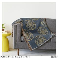Nights in Blue and Gold Throw
