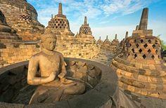 Borobudur Temple Compounds: East Java, Indonesia                                                                                                                   ...
