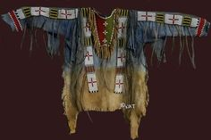Sioux War Shirt - Back Of Shirt by Nat - Sioux War Shirt - Back Of Shirt Mixed Media - Sioux War Shirt - Back Of Shirt Fine Art Prints and Posters for Sale