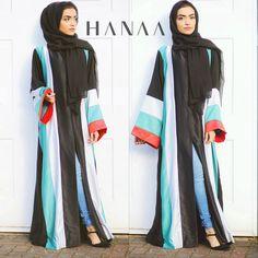 Palestine Strip Silk Open Abaya
