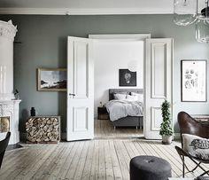 Scandinavian Apartment In Sage Green & White