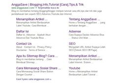 Cara Mendapatkan Sitelinks dari Google - Tips Membuat Sitelink Blog