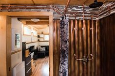 Exposed Copper Pipes - North Sister by Wood Iron Tiny Homes