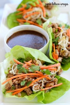 You will LOVE these amazing Pork Lettuce Wraps! Full of flavor, low on carbs and easy to make. Perfect for an appetizer for a group or as a dinner for your family.