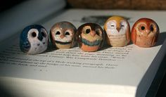 Harry Potter Clay Owls - owls are neat.. not so sure I care if they are HP or not.