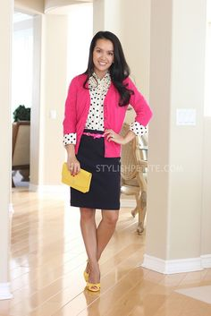 I realized the other day I don't have a dark pink cardi...  I feel that needs to change!