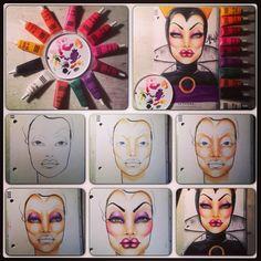 #evilqueen, #facechart, #occ, #makeup, #snowwhite, #sephora, #makeupartist