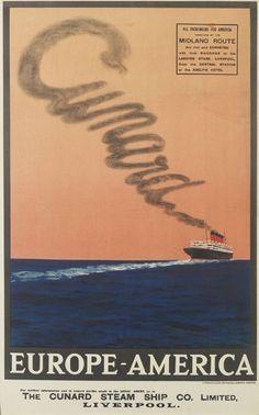 Cunard - Europe - America - 1930's -