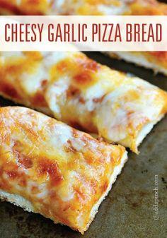 Cheesy Garlic Pizza Sticks—garlic bread and pizza combined!