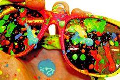 UV paint splatters sunglasses (close)   Flickr - Photo Sharing!