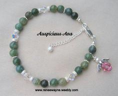 Archangel Raphael bracelet with Swarovski crystal angel. www.reneewayne.weebly.com