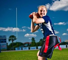 Flag football Football Girls, Flag Football, Physical Fitness, Bodies, Gym Bag, Passion, Athletic, Life, Sports