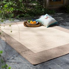 Have to have it. Couristan Recife Checkered Field Indoor/Outdoor Area Rug - Black/Cocoa - $19 @hayneedle