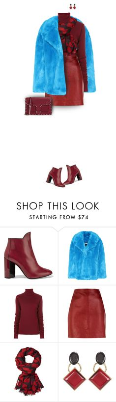 """Styling a bright fuzzy coat"" by muse-charming ❤ liked on Polyvore featuring Trilogy, Pierre Hardy, Diane Von Furstenberg, Y/Project, Sandro, Marni and Rebecca Minkoff"