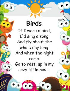 A collection of animal nursery rhymes for kids. Let's sing songs about animals! The best nursery rhymes and songs about animals. Preschool Poems, Nursery Rhymes Preschool, Kindergarten Reading Activities, Rhyming Activities, Kids Poems, English Poems For Kids, English Activities For Kids, Learning English For Kids, English Lessons For Kids
