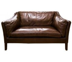 Danish Style Leather Sofa, theoldcinema.co.uk