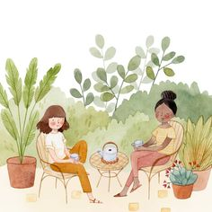 Friends Illustration, Cute Illustration, Character Illustration, Watercolor Illustration Children, Foto Transfer, Easy Drawings, Cute Art, Art Inspo, Painting & Drawing