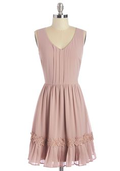 Pastoral Poetry Dress. Youll feel like the subject of a sonnet when you sit down to read in this dusty-rose dress! #pink #modcloth