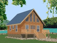 Trapper Log Home Plan by Battle Creek Log Homes