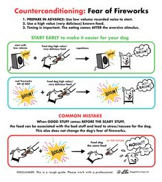 Is your dog scared of fireworks? This illustration demonstrates a basic guide on how to help your dog during fireworks. Dog Drawing Simple, Dog Quotes Love, Dog Tumblr, Dog Artist, Dog Cakes, Funny Dog Memes, Training Your Puppy, Training Tips, Dogs