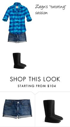 """""""After the """"Tutoring"""""""" by stanbro2001 ❤ liked on Polyvore featuring J.Crew, UGG Australia and Hollister Co."""