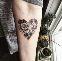 Botanical heart by Vanessa #beautytatoos